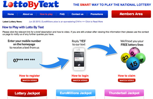 LottoByText which operates a mobile text alert service for UK State Lottery